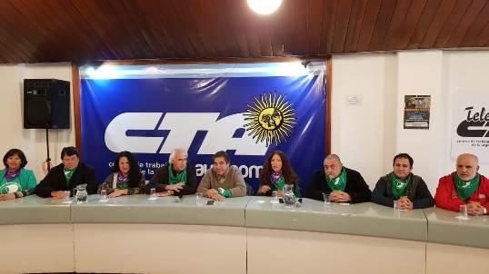 Conferencia de prensa del paro general del 25 de junio